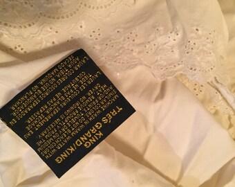 Ralph Lauren Home King sz Ivory Bromley eyelet petticoat bedskirt