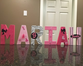 Barbie Silhoutte Custom Name Letters - price is per letter
