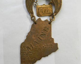 1908 N.E. Grand Council U.C.T. , United Commercial Travelers, Maine Pin