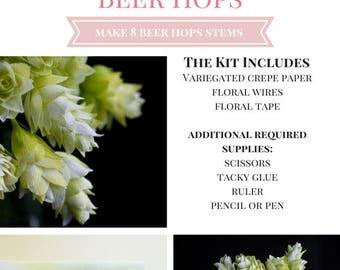Paper Flower Beer Hops Kit