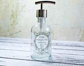 Hand Soap Dispenser | Paris Bathroom Decor | French Soap Dispenser | Glass Soap Dispenser | Bathroom Accessories | Farmhouse Kitchen Decor