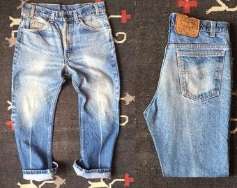 32 waist | Vintage Levis 517 Bootcut Denim Nice Fade | Cropped / Hemmed