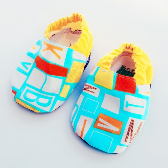Organic Alphabet Baby Boy Booties Shoes