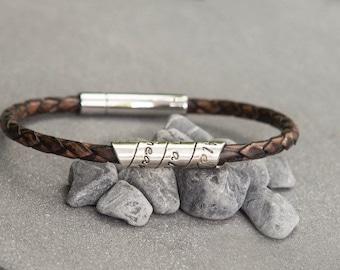 Lyric Distressed Mocha Open Scroll Bracelet