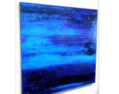 Night Sky Painting, Original Painting, blue contemporary abstract large wall art 36x36  FREE USA SHIPPING