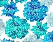 CYBER MONDAY sale 50% OFF 80 Percent Off Sale Blue Flower Succulents Clipart, Watercolor Clip Art, Instant Download, Digital Images, Commerc