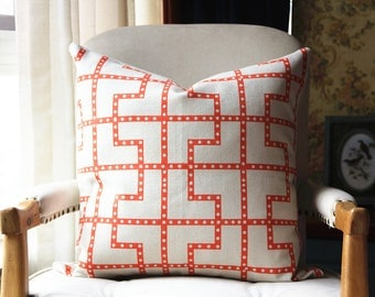 Celerie Kemble Bleecker Spark Decorative Pillow Cover, Square or Lumbar pillow - Accent Pillow, Throw Pillow 448