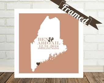Wedding Gifts for Bride Personalized Wedding Frame State Map Print Wedding Gifts For Couple Personalized Gift Wedding Frame For Parents