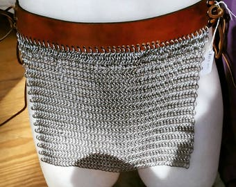 Custom Chainmail Loincloths with leather belts