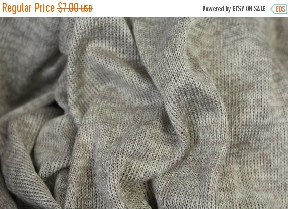 Hatachi sweater knit fabric,Lightweight sweater knit fabric,Taupe fabric,Taupe tone on tone fabric,Apparel fabric,Fabric by the YARD