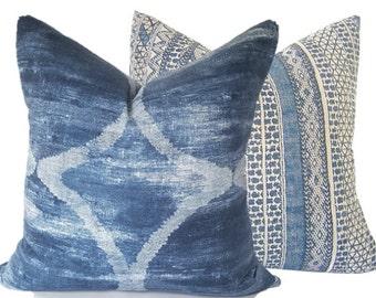 Indigo Pillow - Tie Dye - Boho Indigo Pillow - Indigo Accent Pillow - Blue Cushion Cover - Navy Pillow Cover - Cushion Cover - Throw Pillow