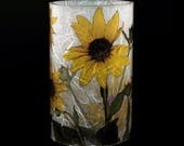 Small Sunflower e-Kandle Kuff(TM) with one free Electric Tea Light