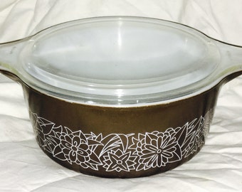 Pyrex - Woodland Brown Large Casserole Dish