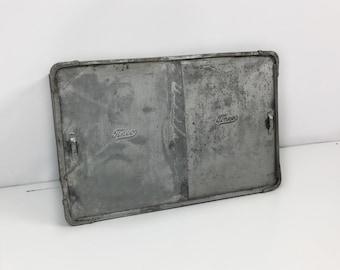 Industrial galvanized metal box, Tinco metal bread box, Galvanized tin box, Metal storage box, industrial metal box