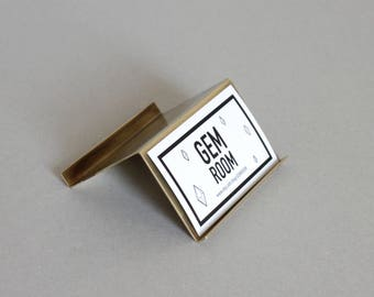 Modern brass Desk Business Card Holder