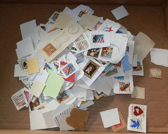 Lot of 500+   Assorted/Mixed Postage Stamps-Paper Ephemera....Lot 2