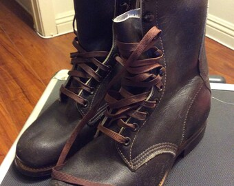 Dead stock Work Boots Brown Boys 4 Women's 6