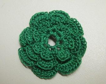 RUFFLED Spool Pin Doily (Green)