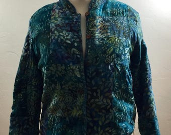 Vintage Jacket, Batik Jacket, Boho Clothing, Vintage Clothing, Reversible Jacket, Ethnic Jacket, Batik Coat, Batik Vintage, Boho Vintage