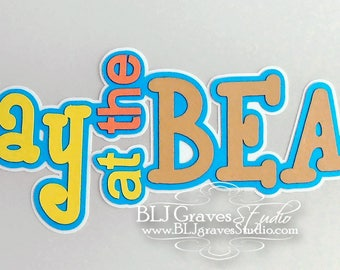 Premade Paper Piece Title Die Cut for Scrapbook Page A Day At The Beach Vacation Summer Handmade 31
