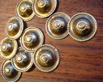 10 x Turkoman style tarnished gold colour buttons