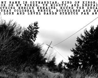 Ozymandias Poem Poster Percy Bysshe Shelley