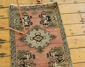 10% OFF SALE 2x3 Vintage Oushak Rug Mat