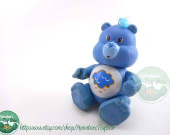 Vintage Care Bear Grumpy Bear Poseable Figure 1980sToy