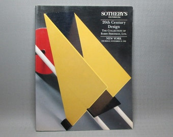 Sotheby's Auction Catalog / 20th Century Design / November 1992
