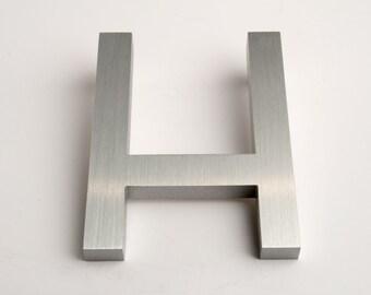 Modern House Numbers Aluminum Modern Font Letter H