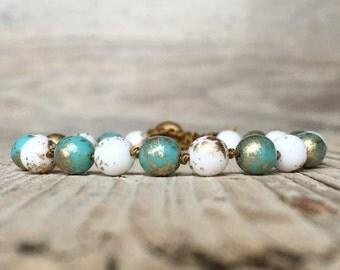 Boho Hippie Beaded Bracelet - artisan bracelet - yoga boho - boho bracelet - hippie bracelet - beaded bracelet