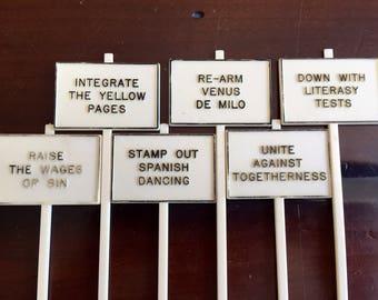 Vintage Swizzle Sticks - Funny Sayings Midcentury Bar Swizzle Stick Drink Stirrer Lot Retro Barware Mancave Decor Hostess Gift Silly Sayings