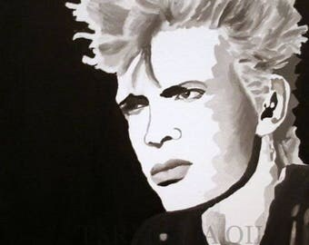 BILLY IDOL Hand Painted Oil Painting 16 x 20