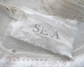SEA TAGS Cotton Linen Tags Seawashed Living Coastal Seaside Cottage Beach House Christmas