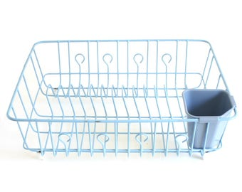Rubbermaid Dish Drying Rack Light Blue Vintage Large