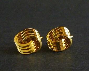 Vintage Trifari Classic Knot Style Earrings