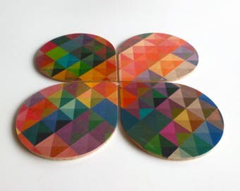 Objectify Grid2 Coasters - Set of 4
