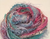 Fiber Art Cotton Candy, Embellishments, Cards, Gift Tags, Scrapbooking, Arts and Crafts