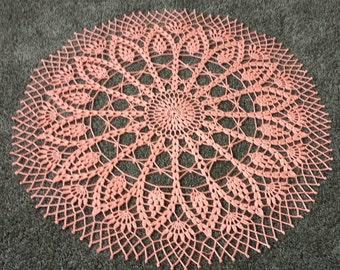 "New 26""  handmade crochet doily,center piece"