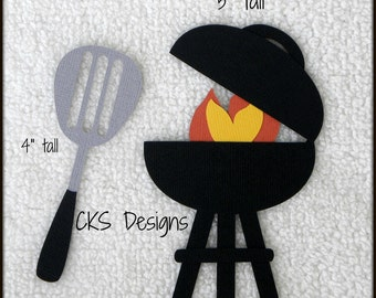 Die Cut Cookout BBQ Grill Scrapbook Page Embellishments for Card Making Scrapbook or Paper Crafts