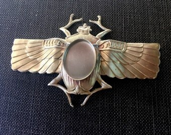 Large Winged Scarab Beetle Band with 18mm x 13mm Bezel (1 pc)