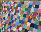 Queen Size Quilts - Traditional Quilts - Patchwork Queen Quilts - Traditional Bedding - Wedding Gifts -12