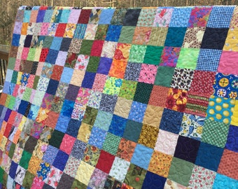 Queen Size Quilts - Traditional Quilts - Patchwork Queen Quilts - Traditional Bedding - Ready to Ship -12