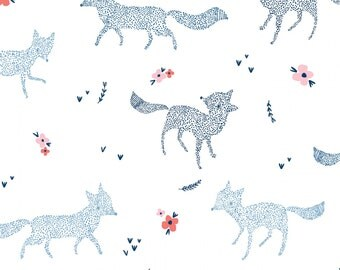 Fox Baby Bedding, Fox Crib Bedding, Minky Baby Blanket, Fitted Crib Sheet, Changing Cover, Woodland Nursery Bedding, Pine Grove Dotted Foxes