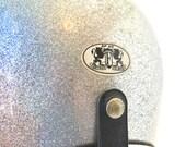 Arthur Fulmer AF 40 Silver Glitter Bike Helmet Size Large