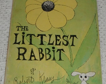 The Littlest Rabbit by Robert Kraus vintage softcover Scholastic Book 1973