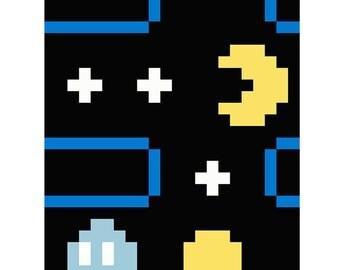 Pacman  Quilt Pixel Eater Pattern