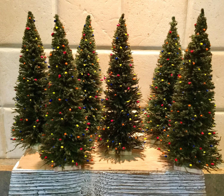 MINIATURE CHRISTMAS TREE with pretend lights Doll House