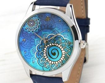 Mandala Watch   Women Watches   Boho Style Watches for Women   Boho Chic   Girlfriend Gift   Gift For Her   Bohemian Jewelry   FREE SHIPPING