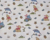 "Winnie the Pooh 'Pooh's Day in he park' Disney fabric designed by Springs Industries, 1 yard  28 inches - 44"" wide"